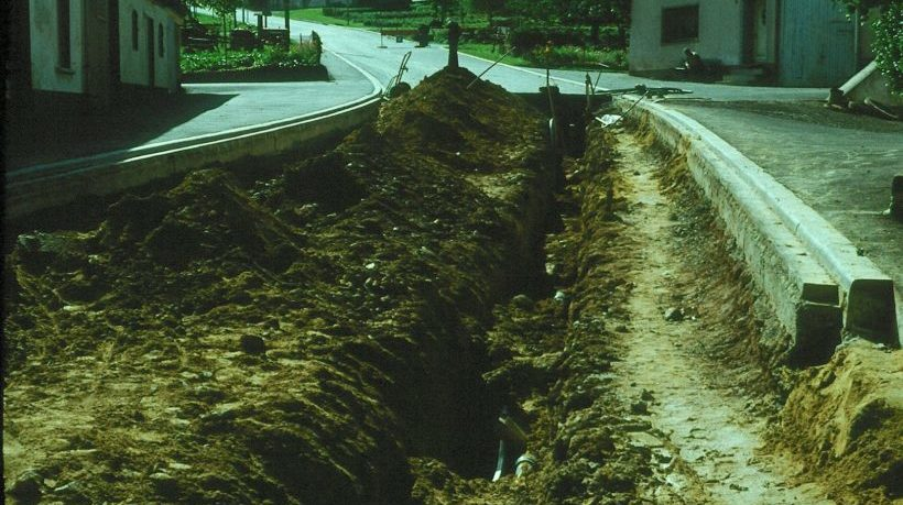 Bau der Schmißberger Kanalisation von 1972 - 1975