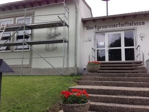 Anstrich Gemeinschaftshaus 04.06.2014