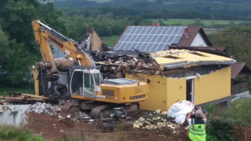 Nach Brand: Haus von Christian Piontek wird abgerissen