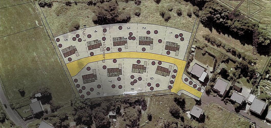 Platz für neun Häuser