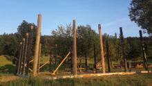 Viele Spender unterstuetzen Bau der Storchenvoliere