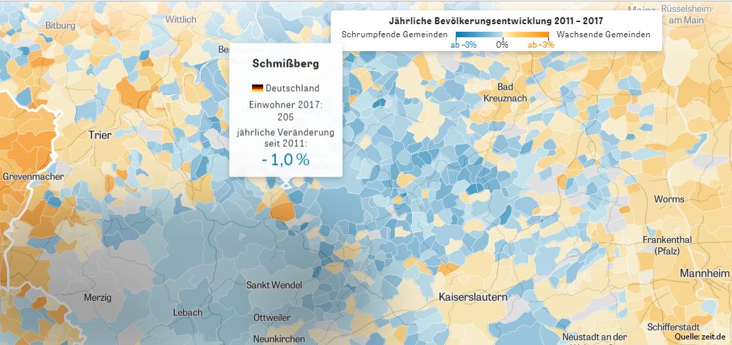 Schmissberg im Datenprojekt von Zeit-Online